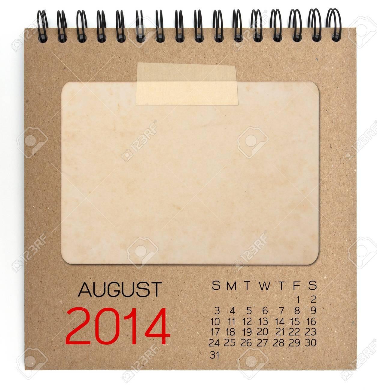Calendrier 2014 cahier brun Banque d'images - 20822481