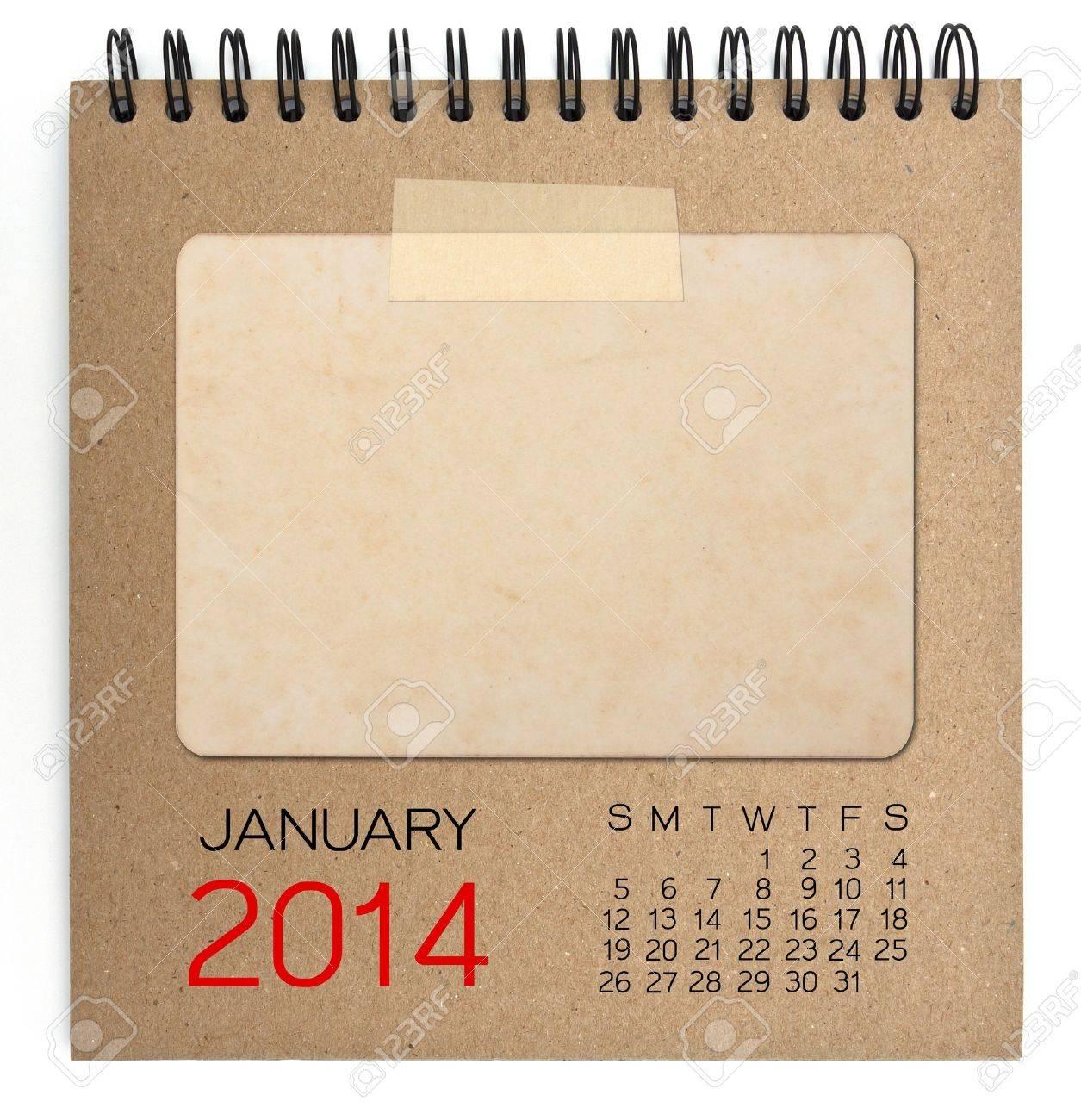 Calendrier 2014 cahier brun Banque d'images - 20822516