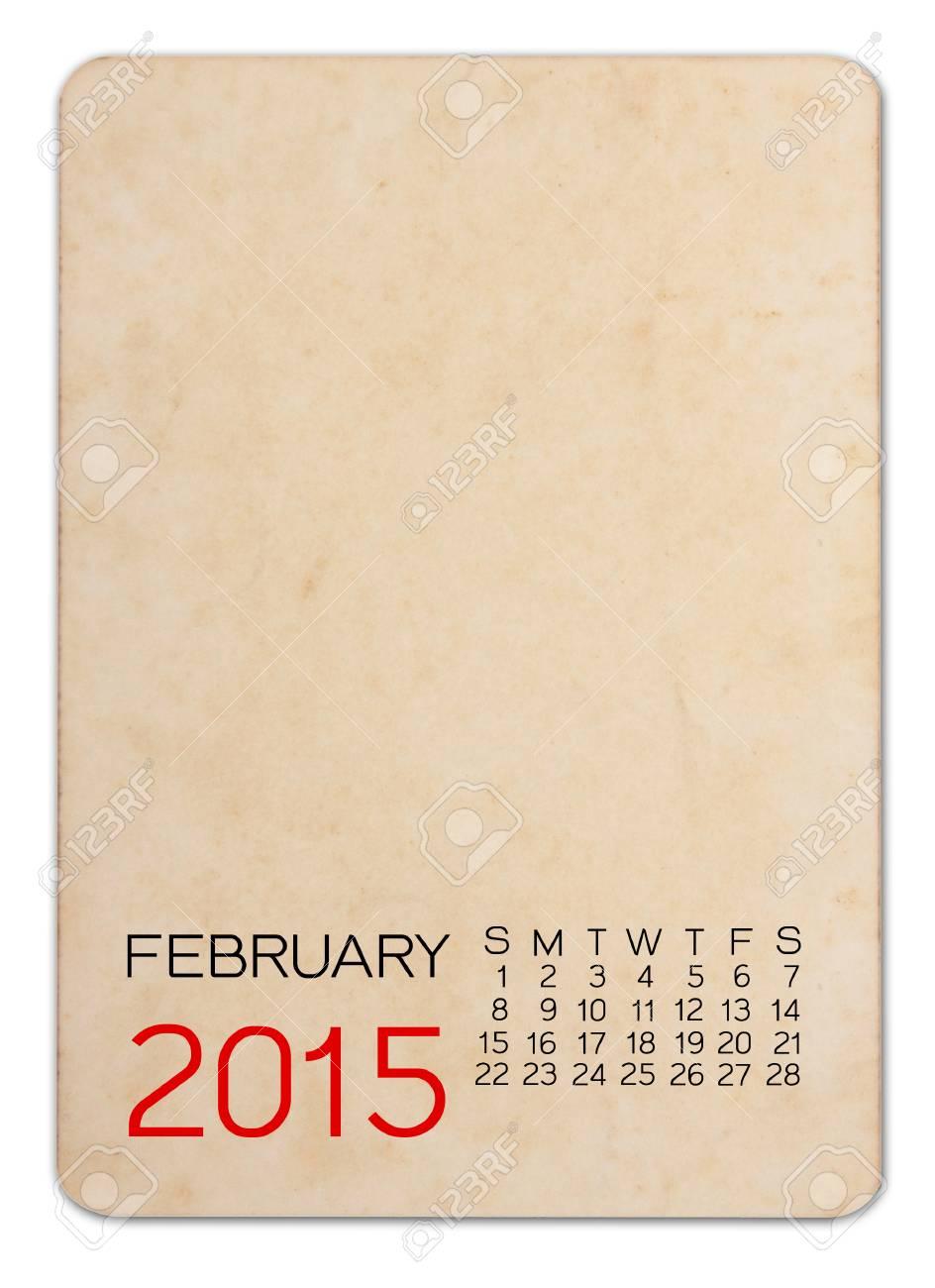 empty calender 2015