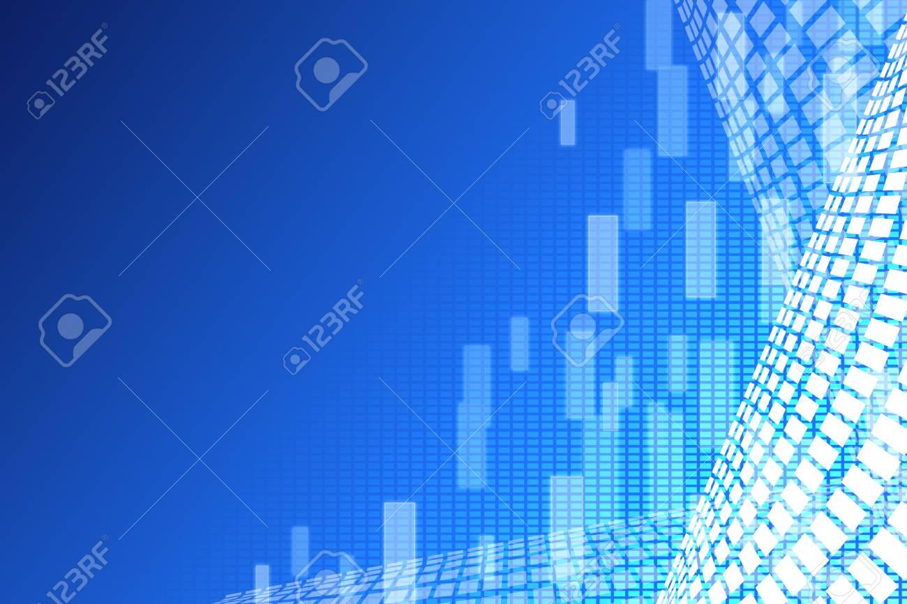 mosaic pattern design on blue background, vector illustration Stock Illustration - 18556340
