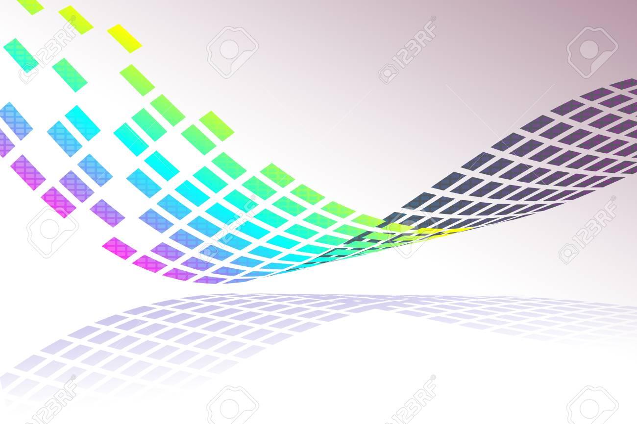 mosaic pattern design on blue background, vector illustration Stock Photo - 18556329