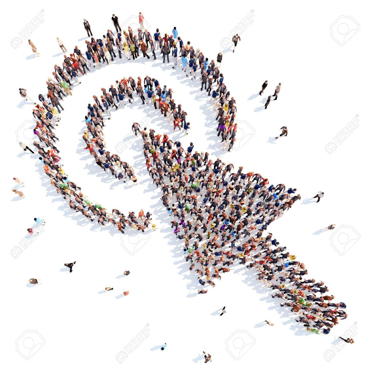 people in the form of cursor. - 36806129