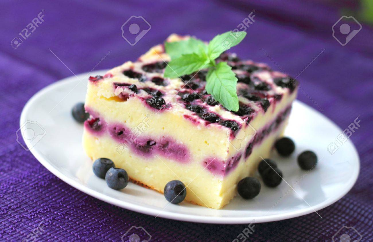 Amazing Baked Cottage Cheese Pudding With Blueberries Download Free Architecture Designs Intelgarnamadebymaigaardcom
