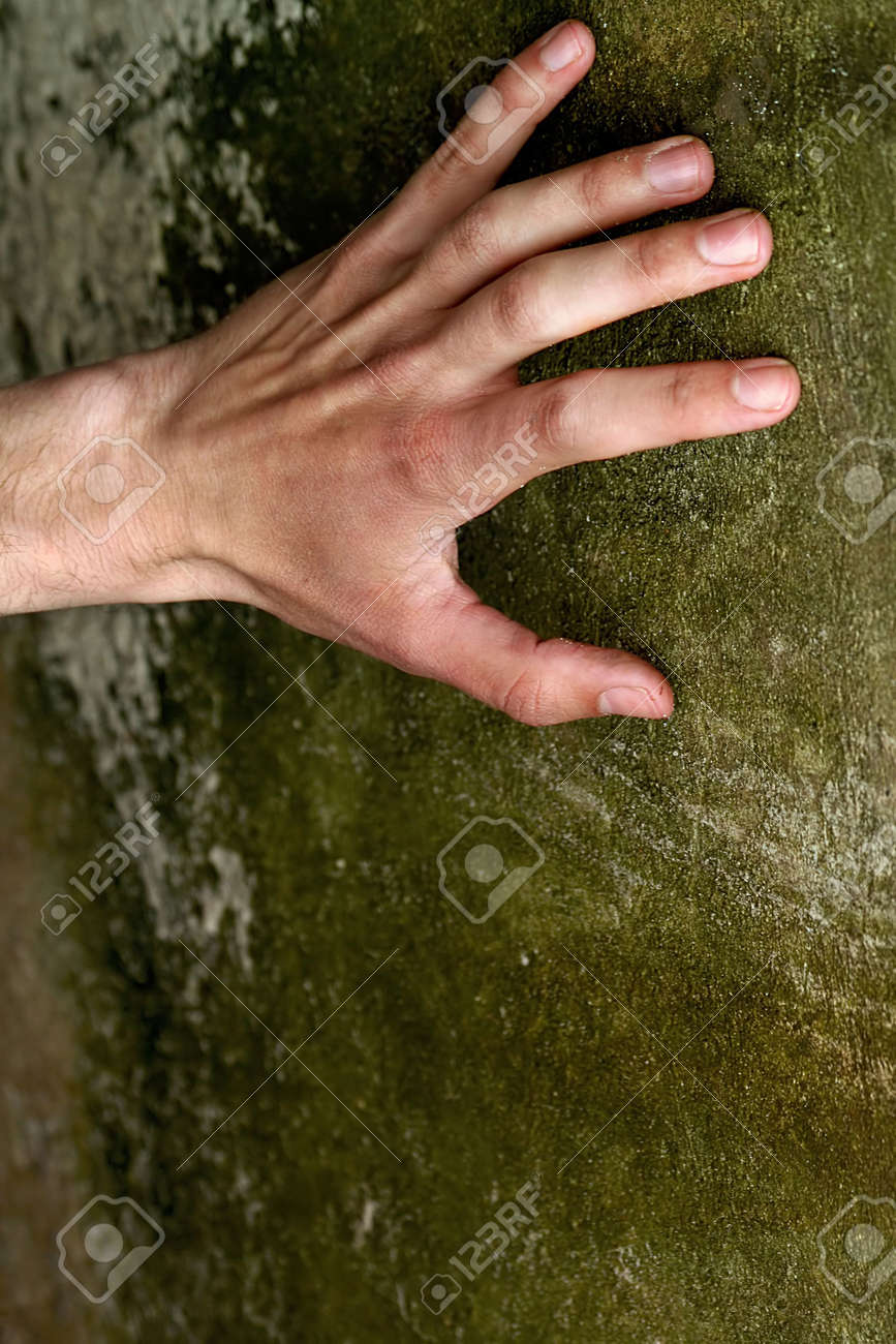 The hand of the man which wants freedom. Stock Photo - 926421
