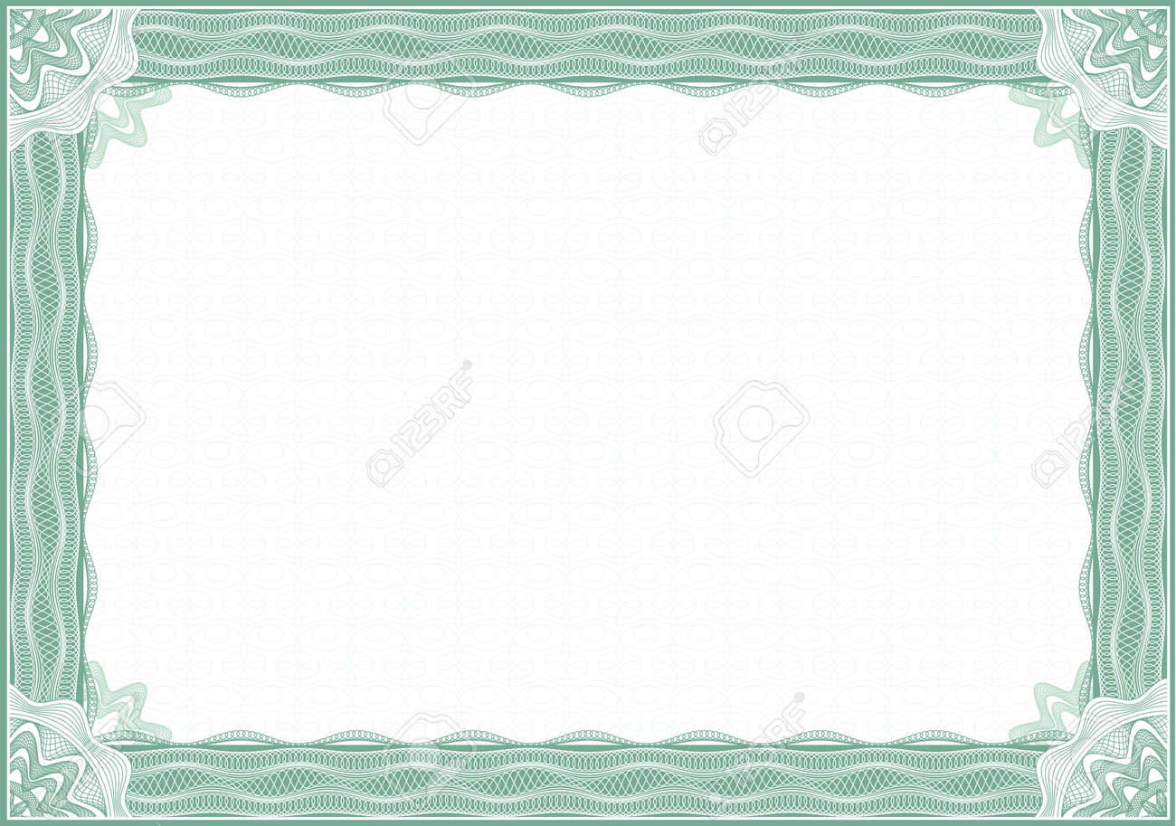 diploma border  Classic Guilloche Border For Diploma Or Certificate / A4 Stock Photo ...