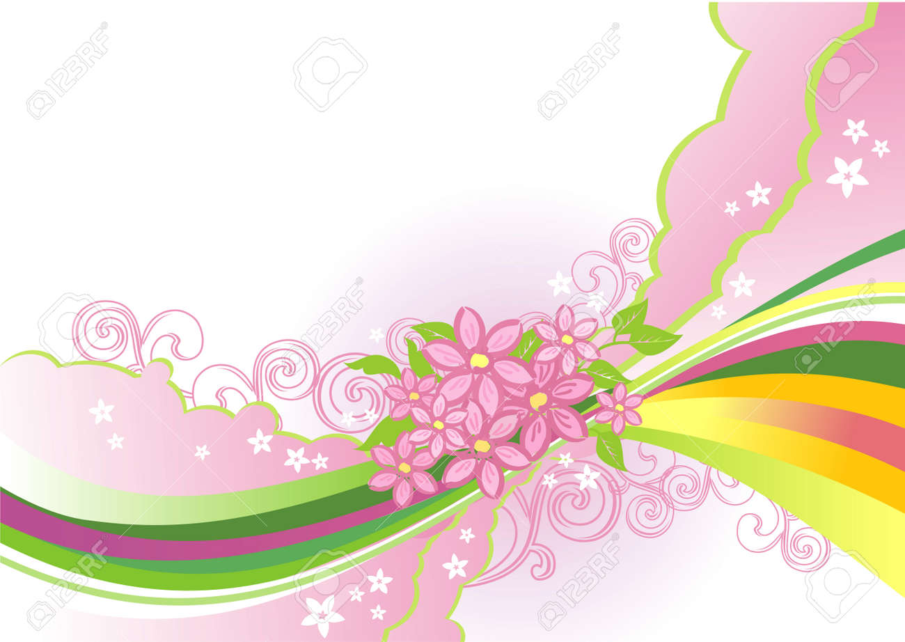 abstract flower background / vector / layers are separated! Stock Vector - 4514990