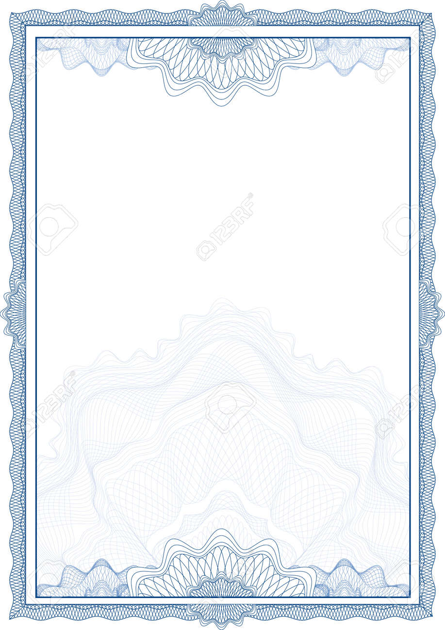 Classic guilloche border for diploma or certificate / vector Stock Vector - 5304790
