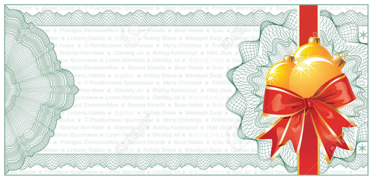 golden christmas gift certificate or discount coupon template golden christmas gift certificate or discount coupon template text stock vector 10965998