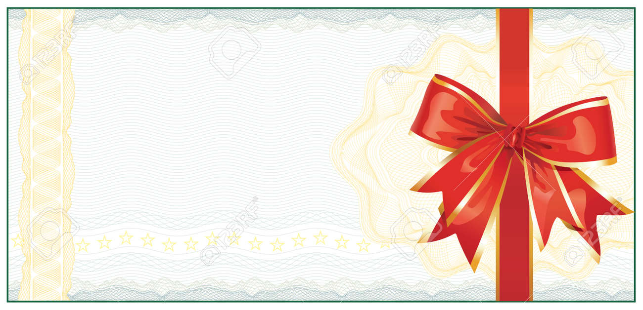 Golden Gift Certificate Or Discount Coupon Template Royalty Free – Gift Coupon Template