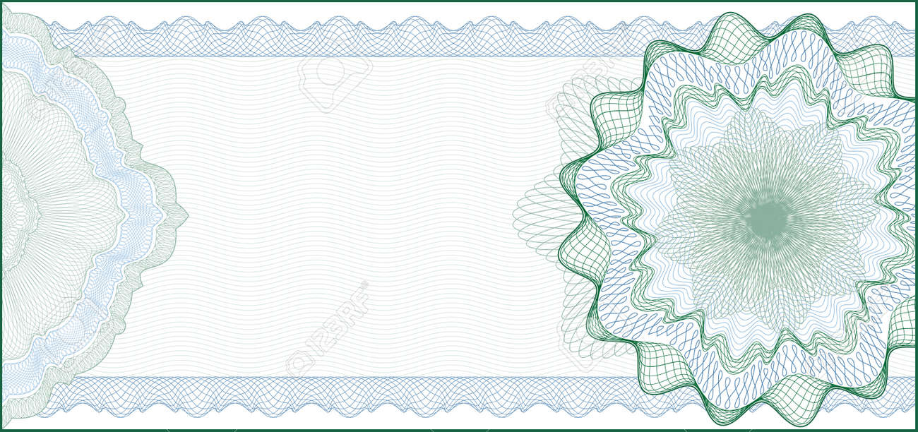 elegant guilloche background for gift certificate voucher or elegant guilloche background for gift certificate voucher or banknote elements are in layers for easy