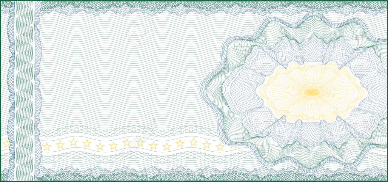 Guilloche Background for Voucher, Gift Certificate, Coupon or Banknote    layers are included for easy editing Stock Vector - 14304475