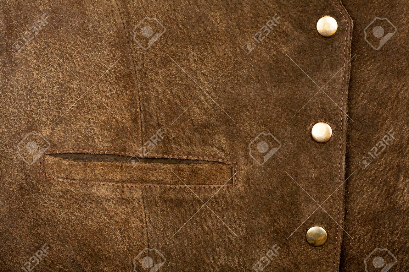 Suede vest fragment with side pocket Stock Photo - 12177865