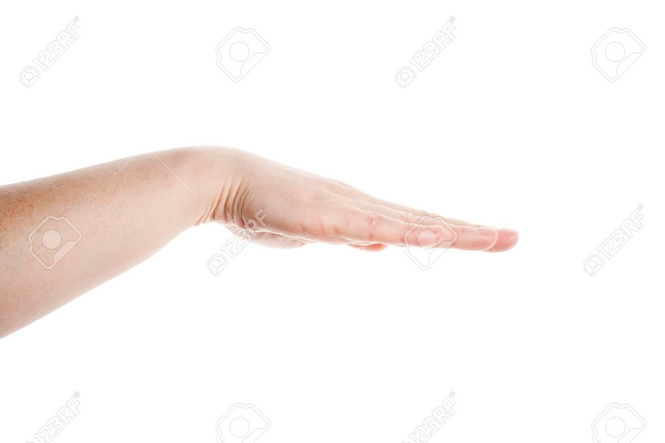 Empty hand isolated on white background Stock Photo - 13050594