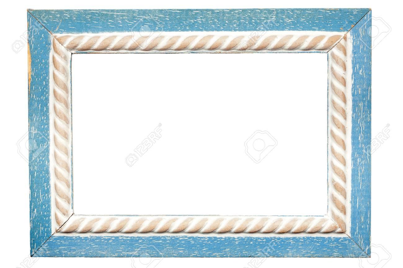 Rectangular wooden frame isolated on white background Stock Photo - 15027699