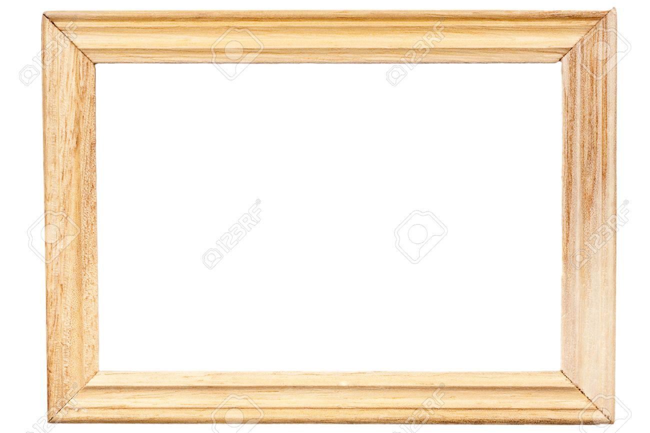 Rectangular Wooden Frame Isolated On White Background Stock Photo ...