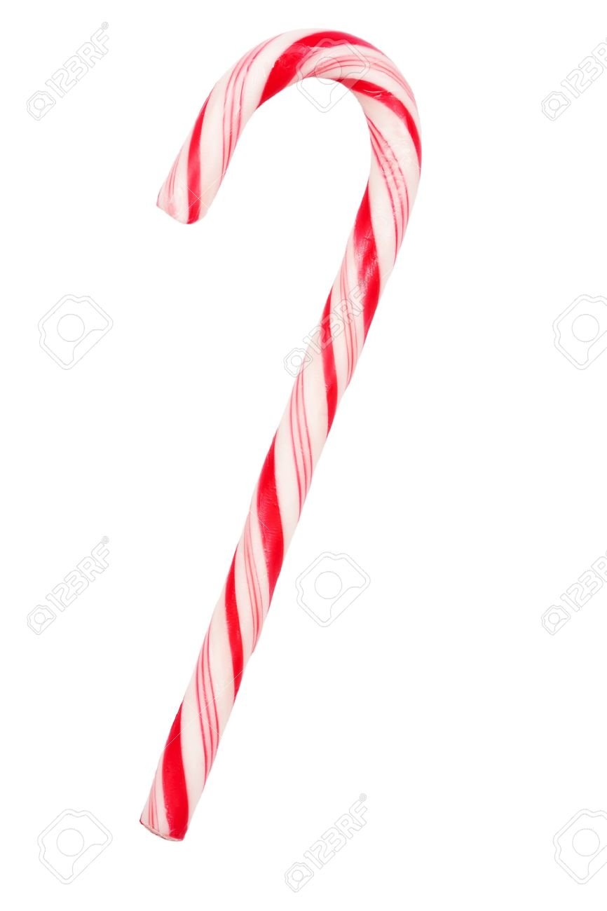 Christmas Candy.Christmas Candy Cane Isolated On White Background