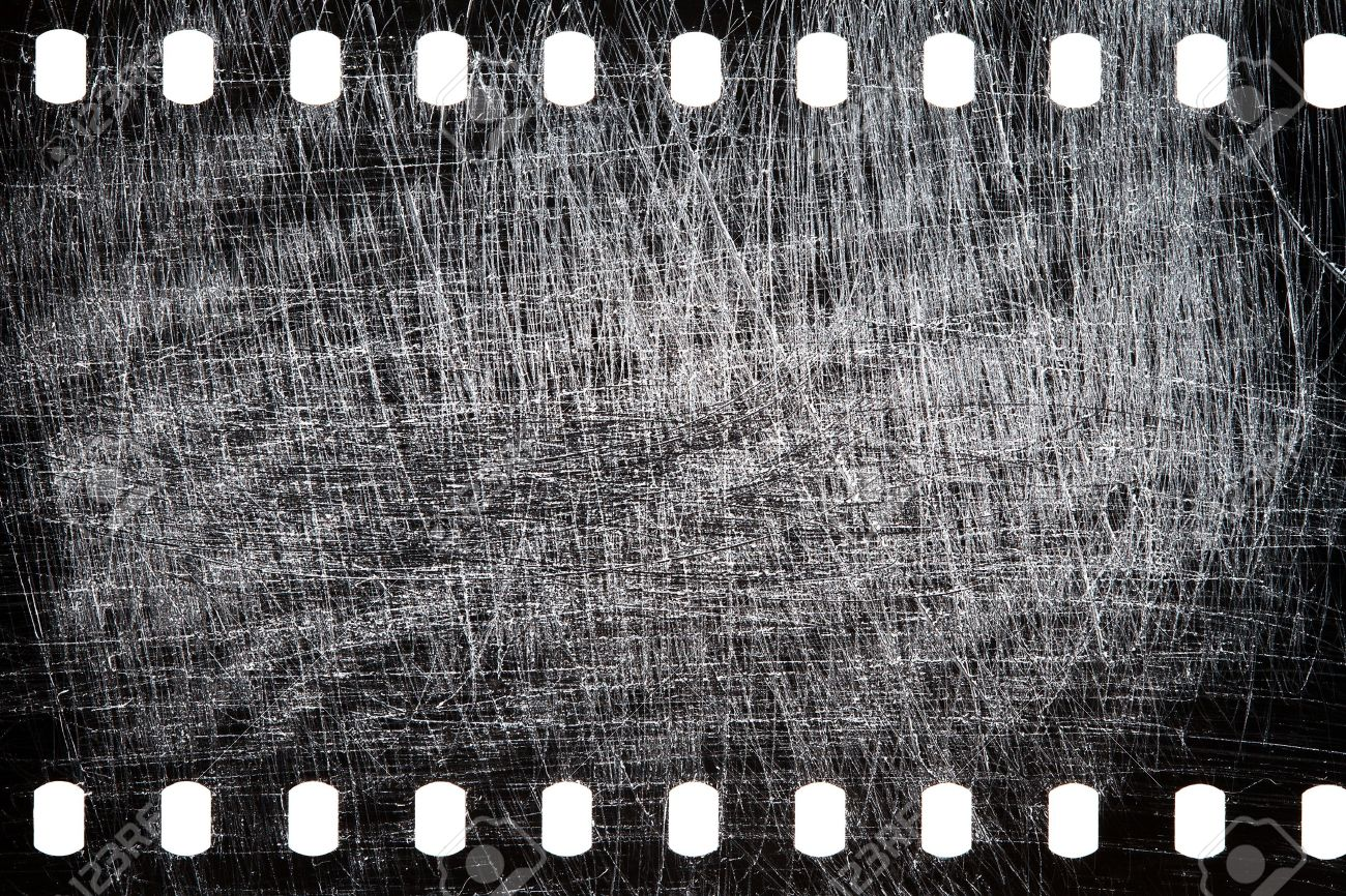 Blank grained scratched film strip texture background - 19752877