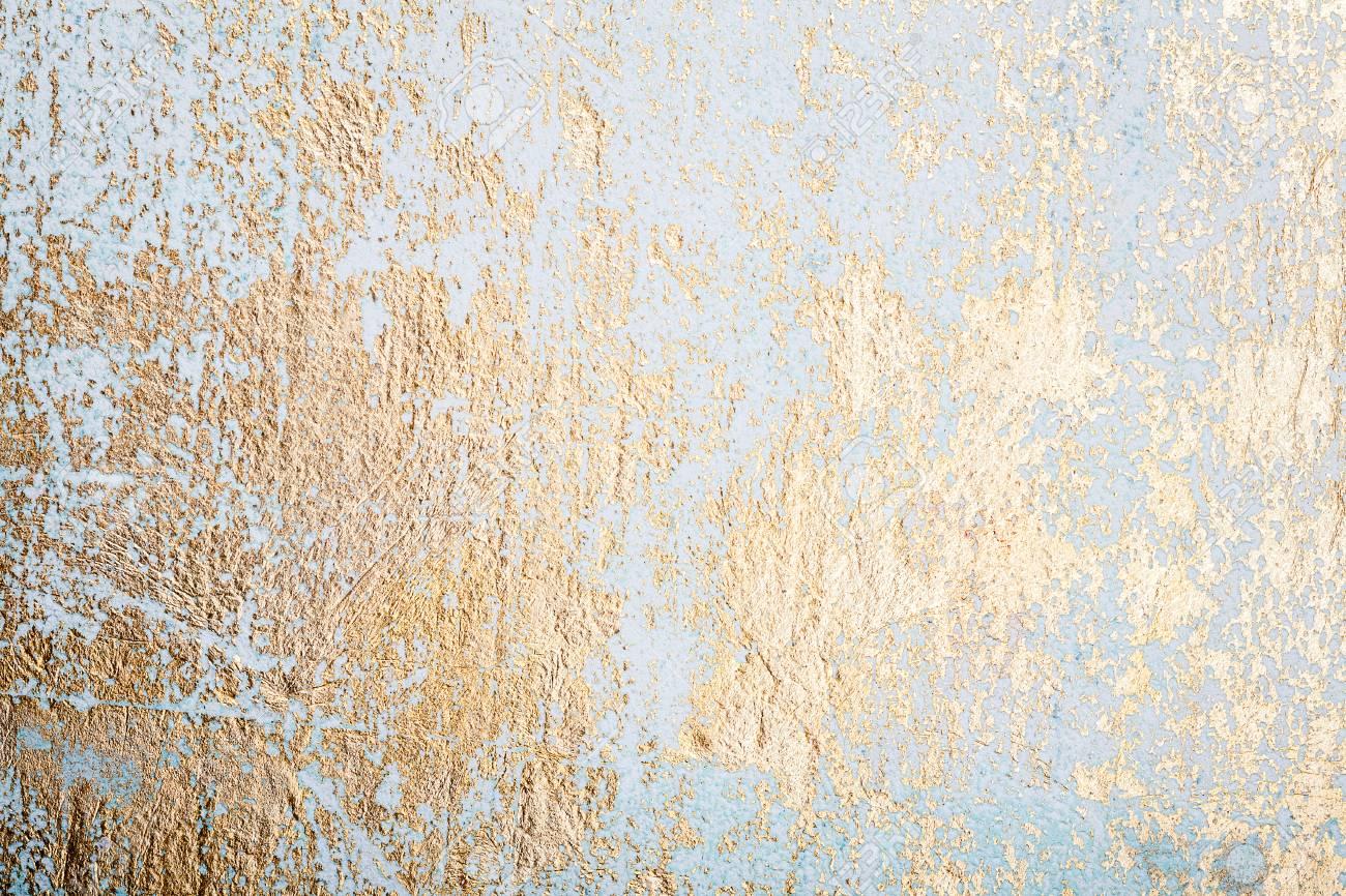 Fond De Texture De Stuc Mur Blanc Et Or Désordonné Peinture Murale Décorative