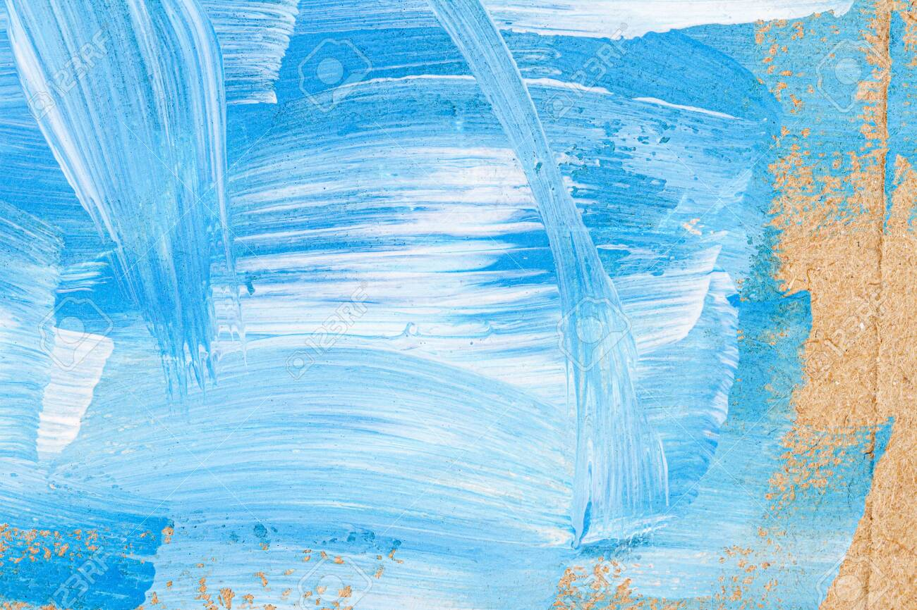 Blue White Abstract Art