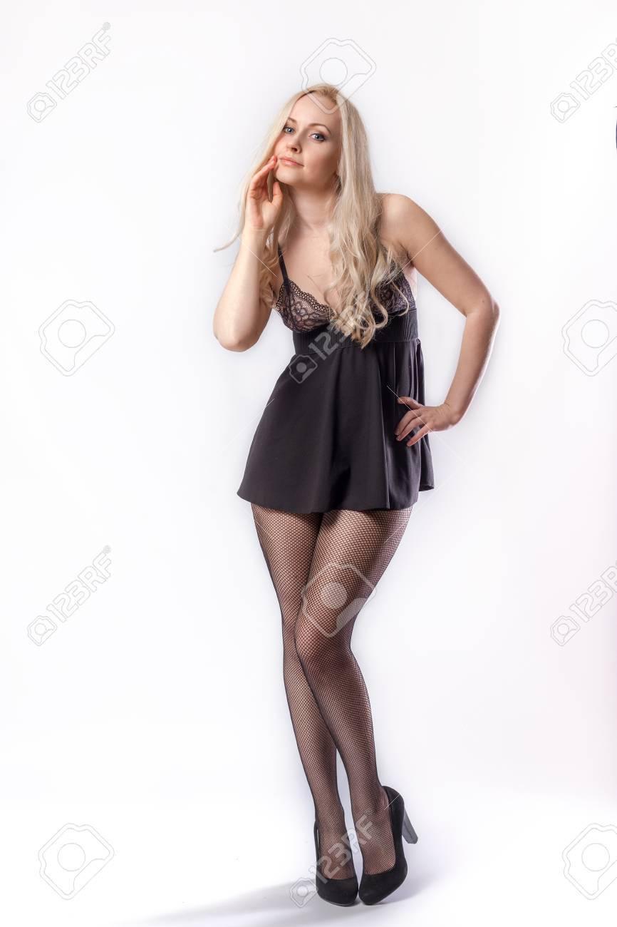 sexy schwarze strumpfhose