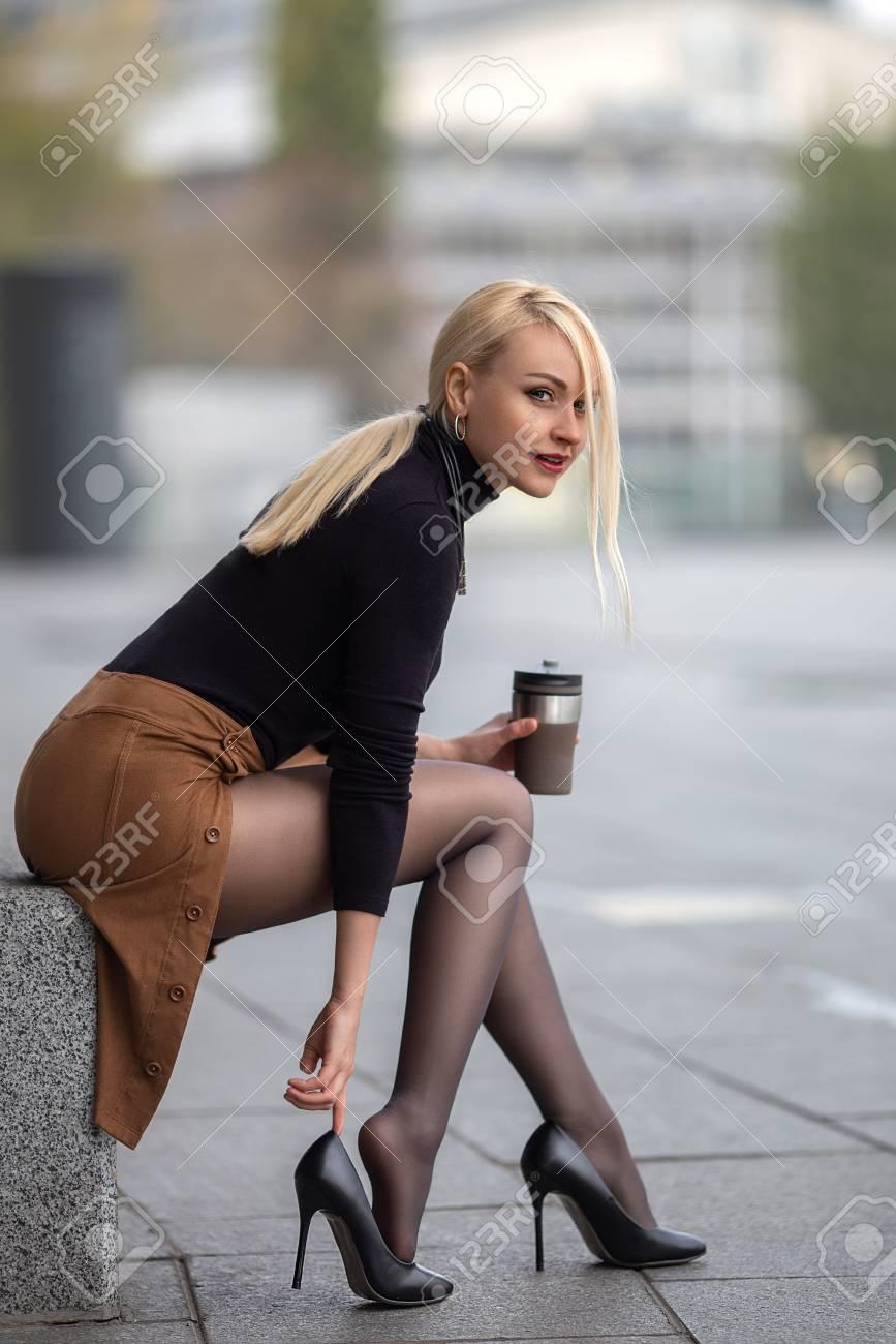 pantyhose blonde