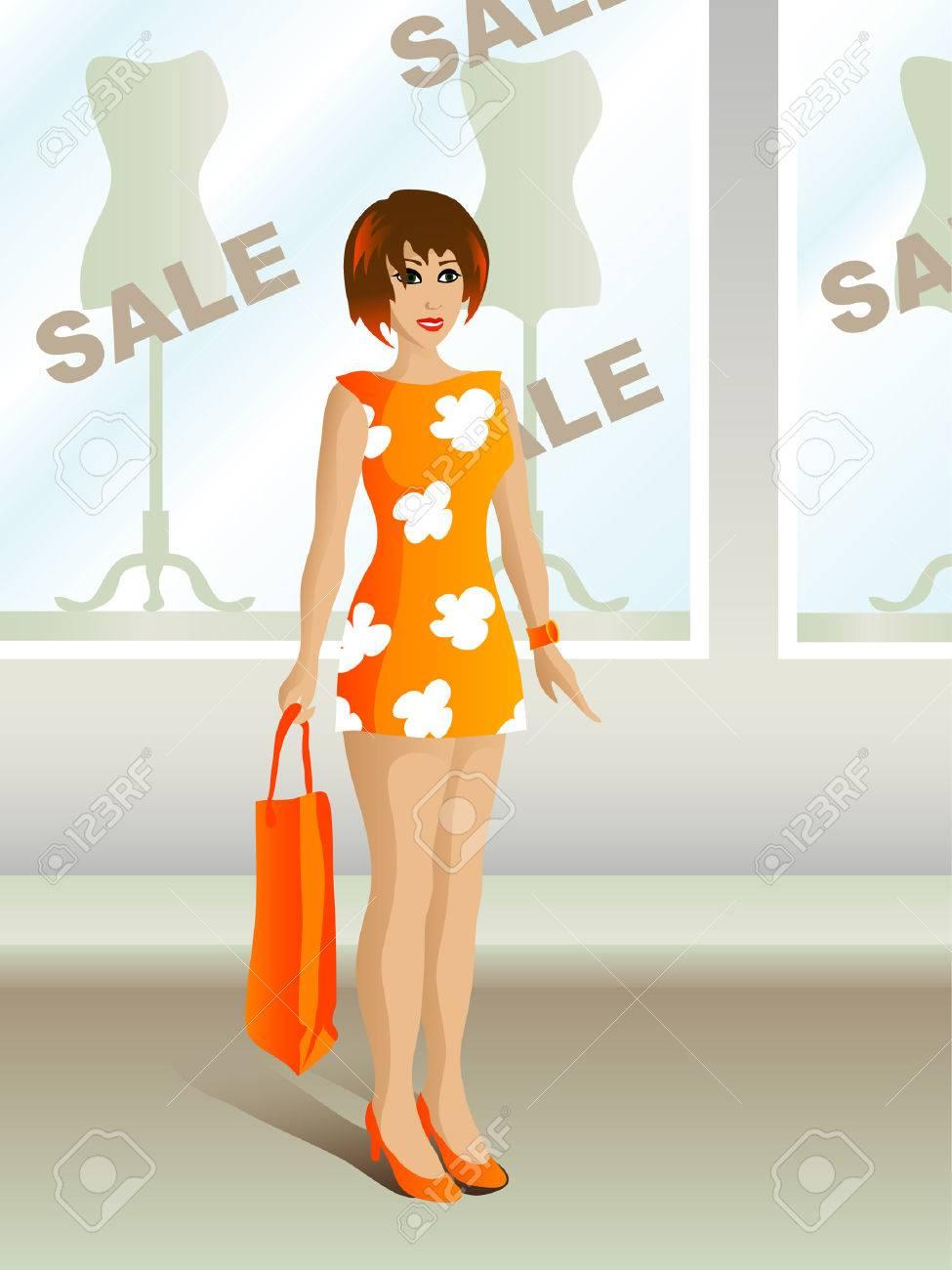 Sale shopping Stock Vector - 1861514