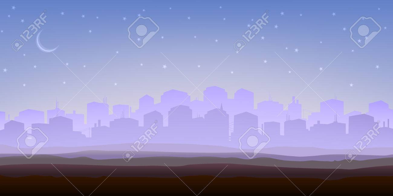 Foggy city panorama in the morning (other landscapes are in my gallery) Stock Vector - 4367807