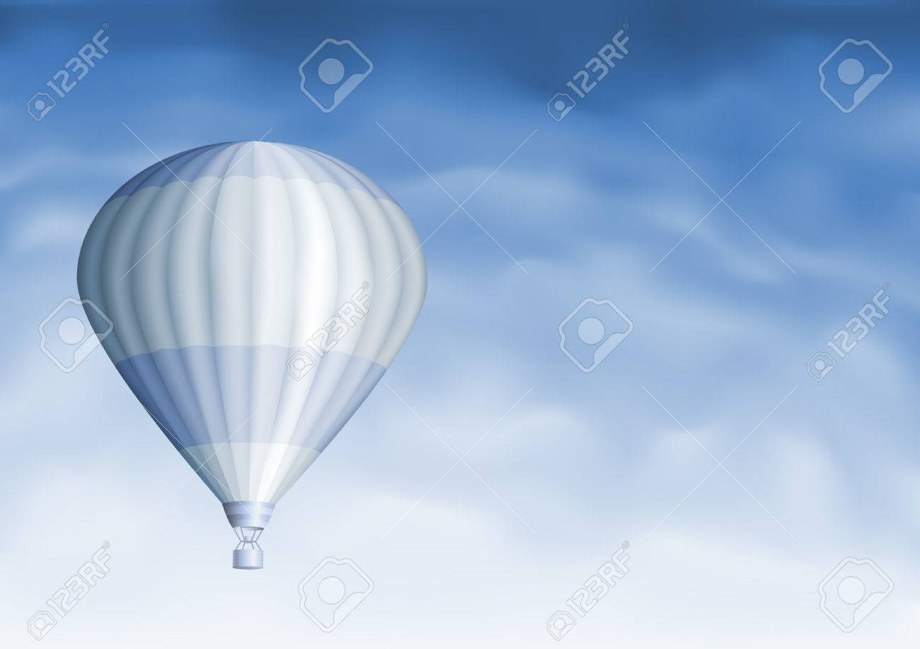 Hot air balloon in the blue sky (other sky views are in my gallery) Stock Vector - 5246593