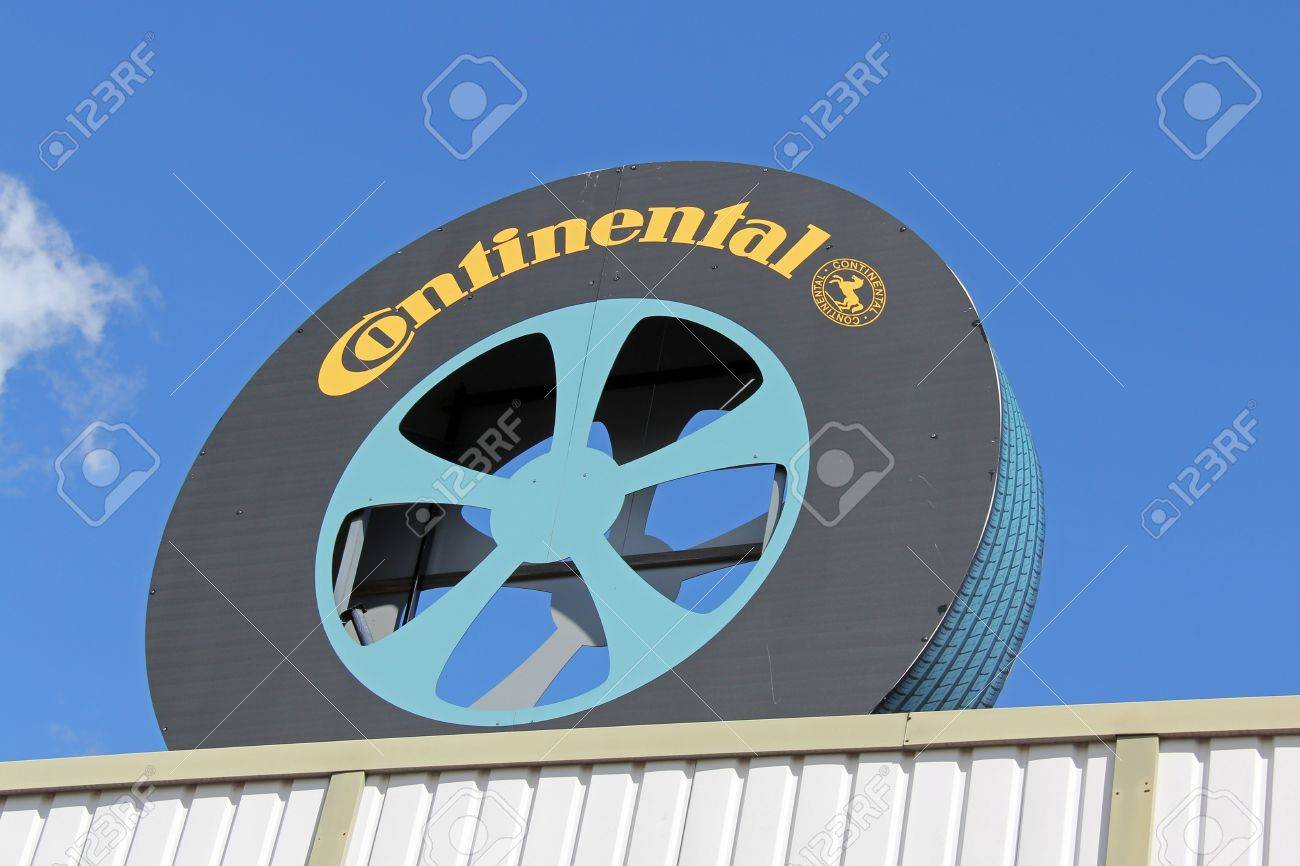 FORSSA, FINLAND - AUGUST 11: Sign Continental inside a tire on August 11, 2013 in Forssa, Finland. Continental AG is a leading German auto and truck parts manufacturing company founded in 1871. Stock Photo - 21631331