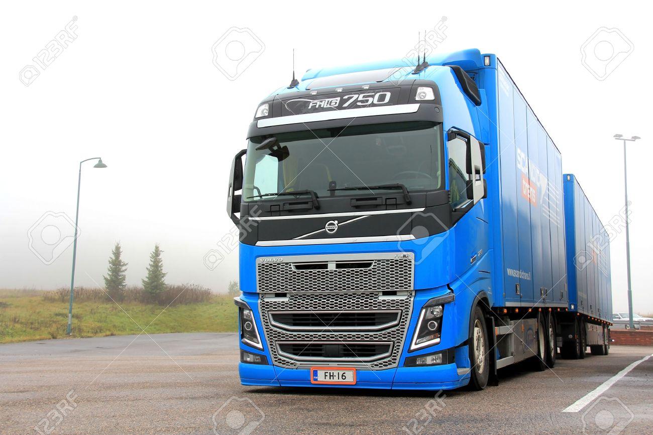 Salo Finland November 3 Blue Volvo Fh16 750 Truck On November