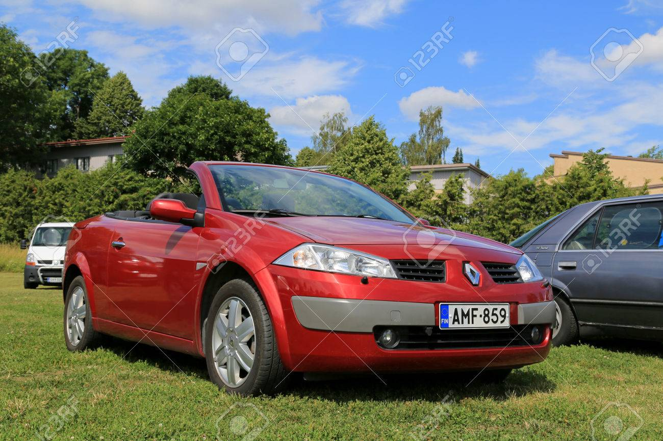 Kaarina Finland July 19 2014 Red Renault Megane Cabriolet Stock Photo Picture And Royalty Free Image Image 35781005