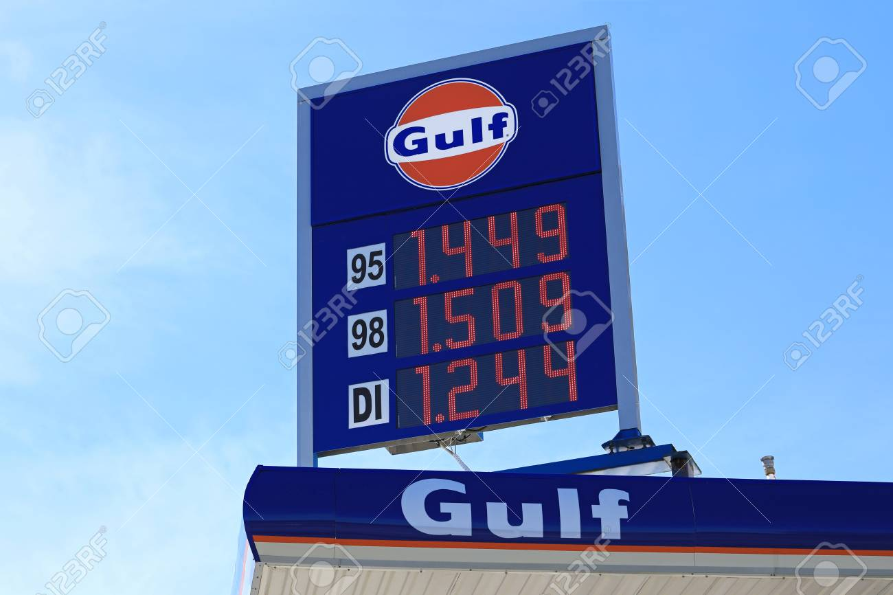 Gas Station Prices >> Masku Finland June 3 2017 Gulf Fuel Station Sign With Gas