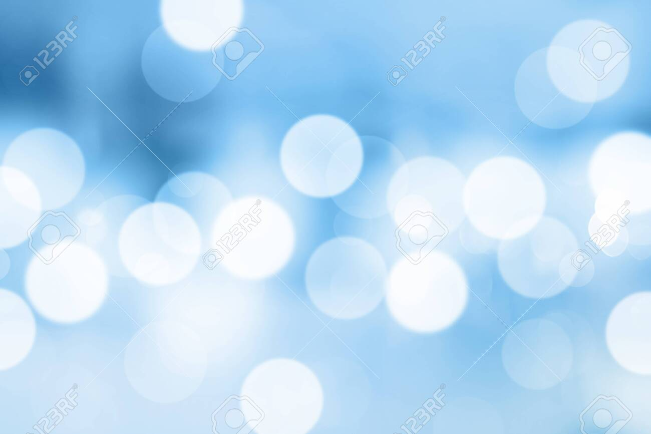 Blue gradient background or bokeh abstract design for wallpaper. - 131927175
