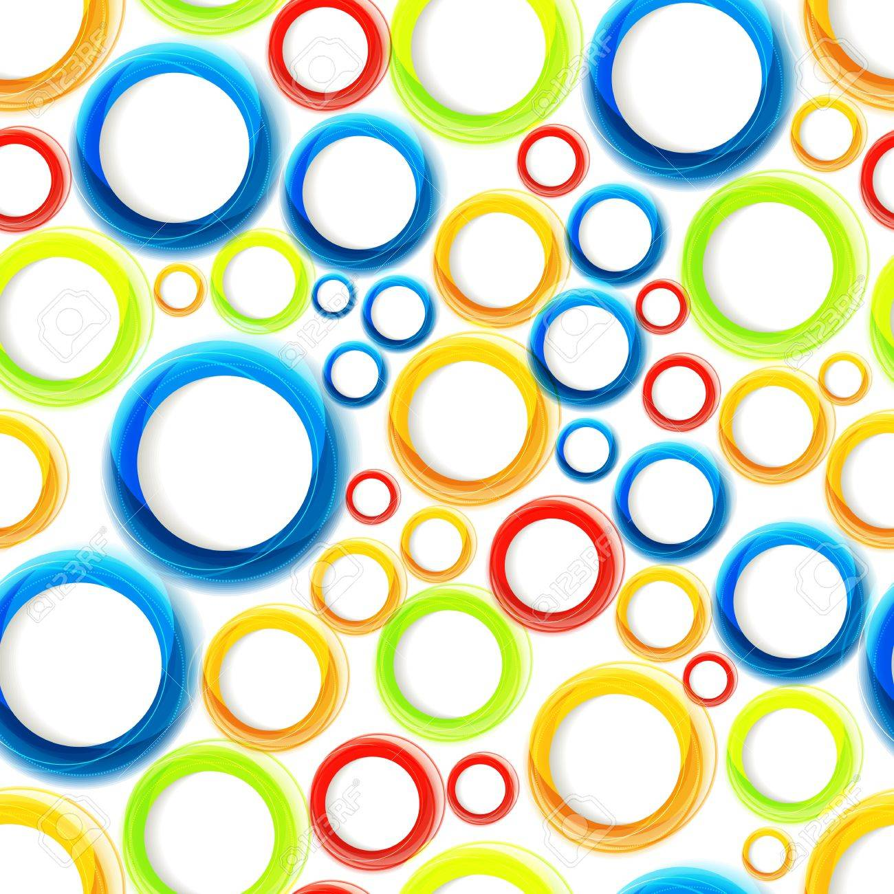 Seamless organic pattern with bright colorful circles  Eps10 Stock Vector - 19080090