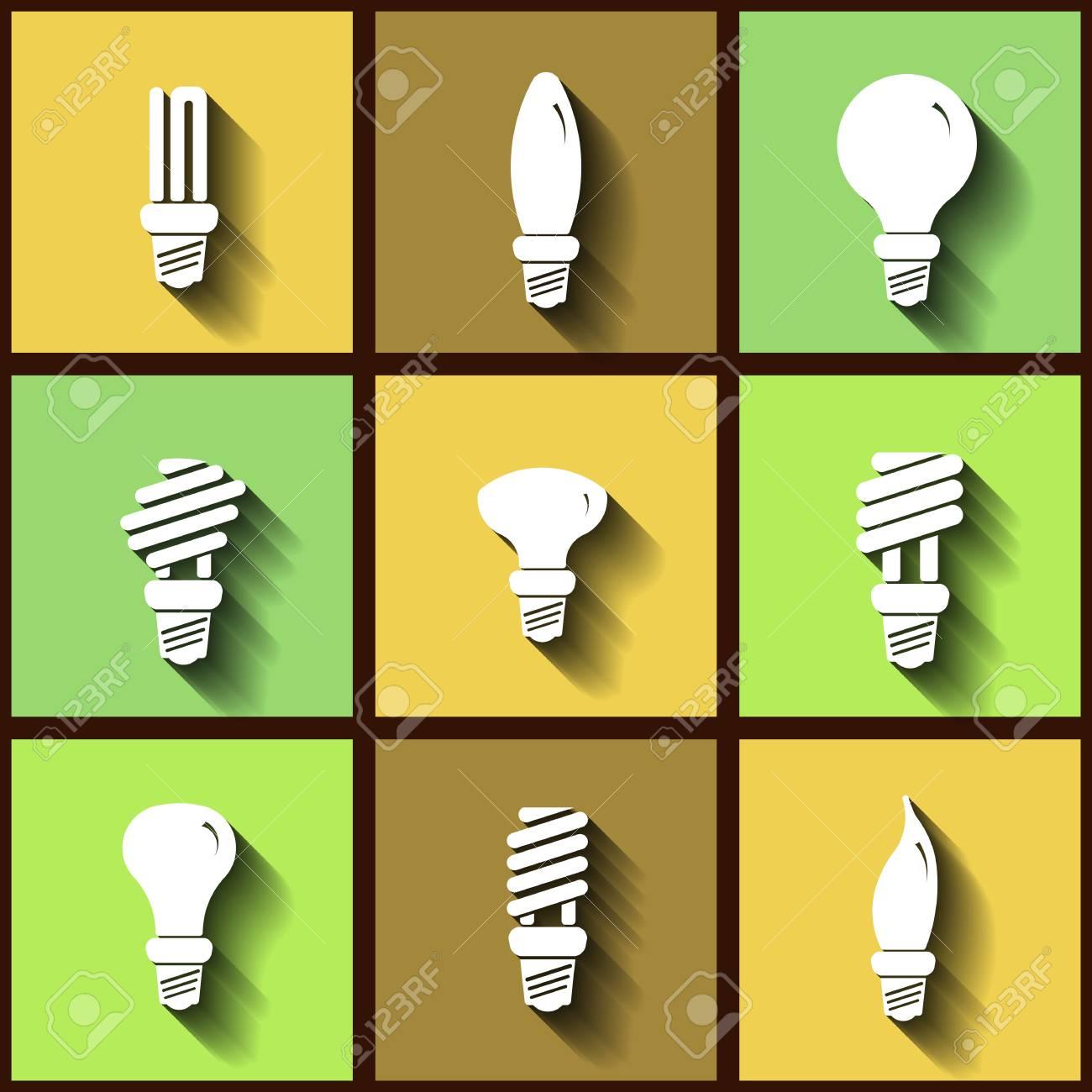 lámparas iconos consumo de de 9 Conjunto de planos bajo srChdxQt