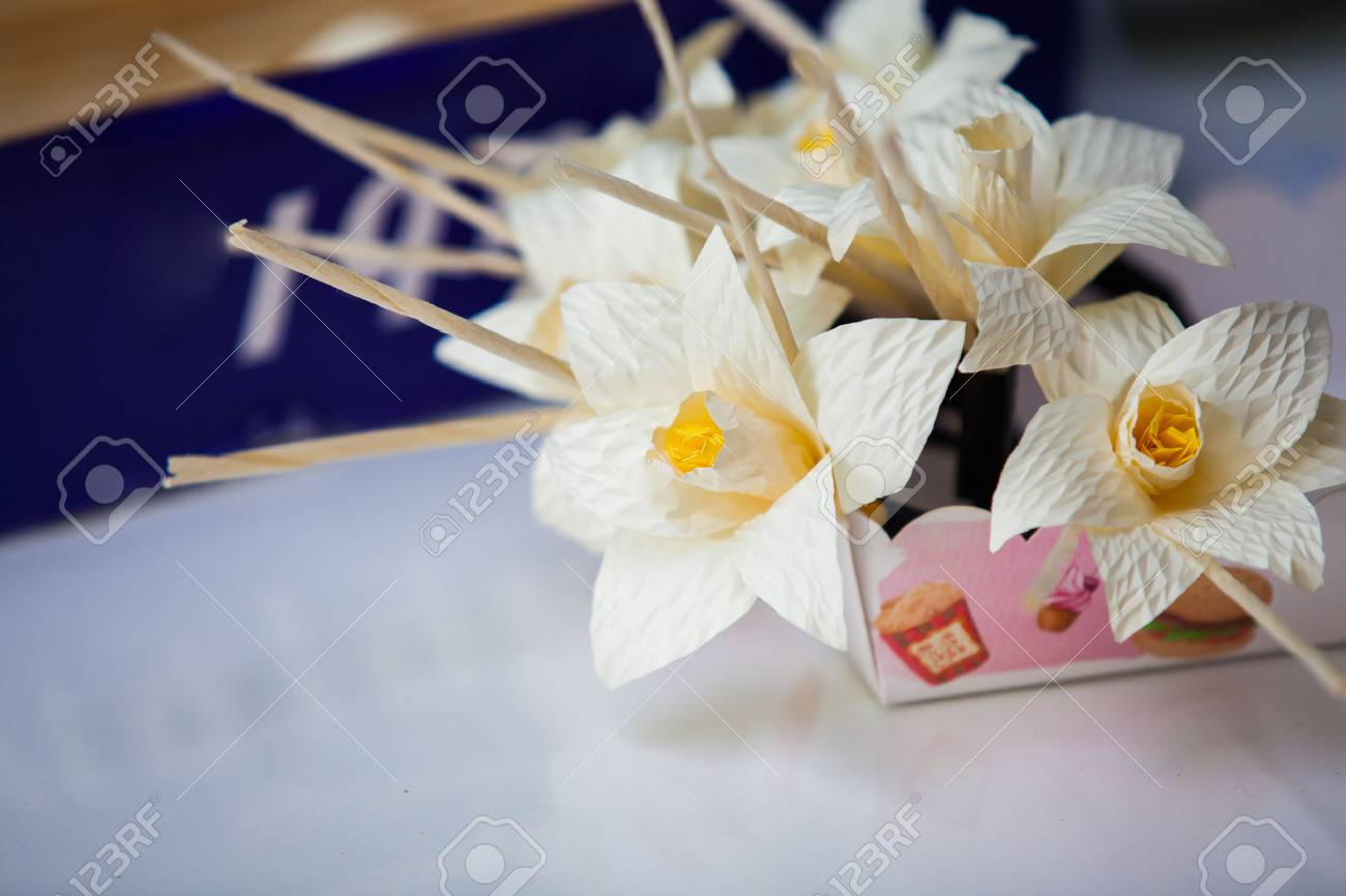 Thai Funeral Flower Artificial Flower Used For Cremation Paper