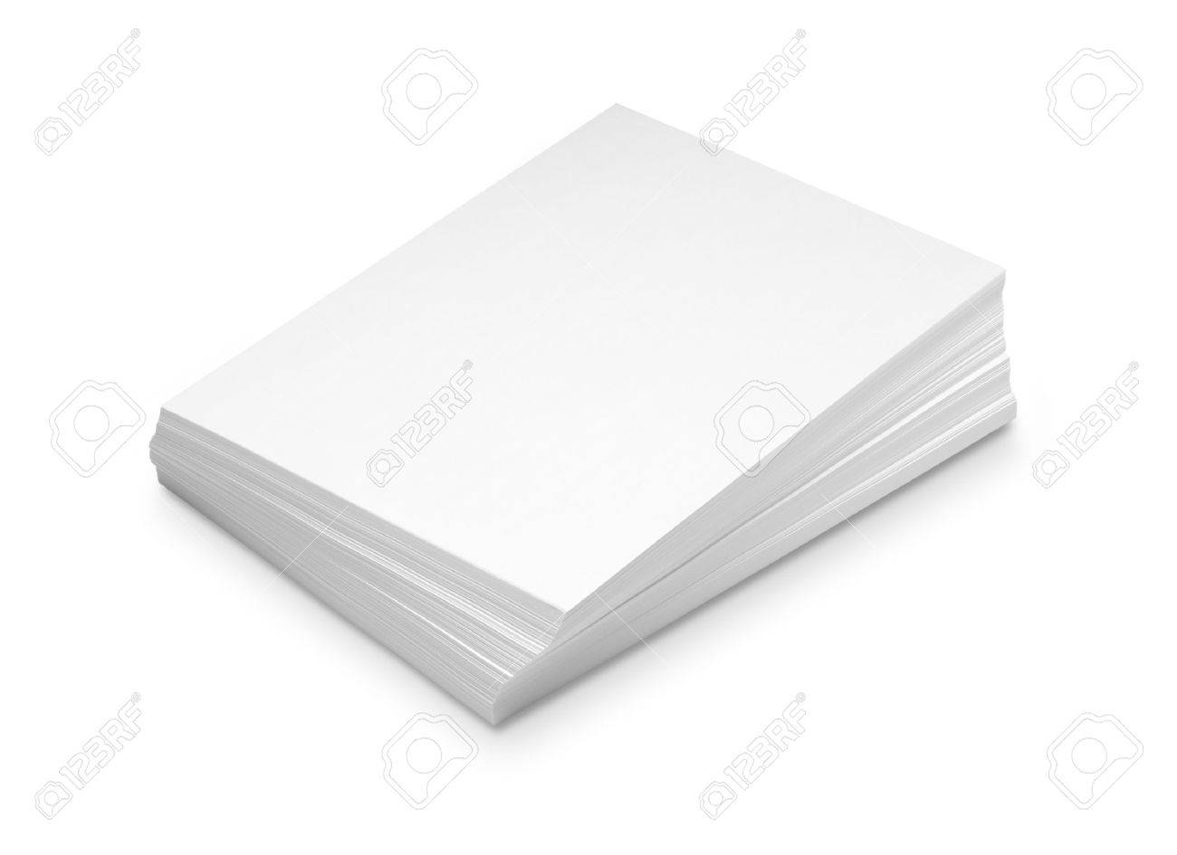 Stack white paper isolated on white background with Clipping Path - 45812547