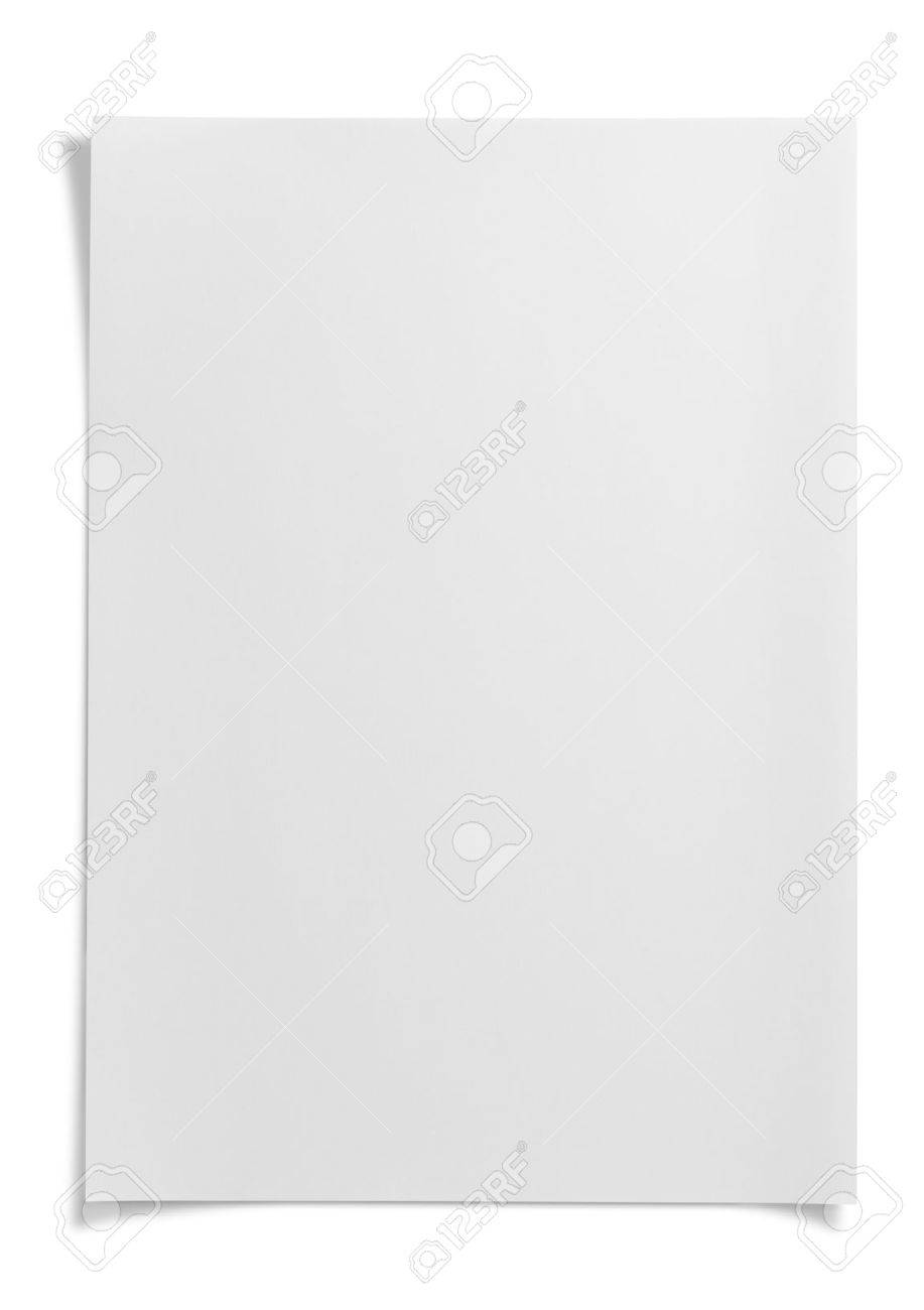 Blank paper on white - 45812683