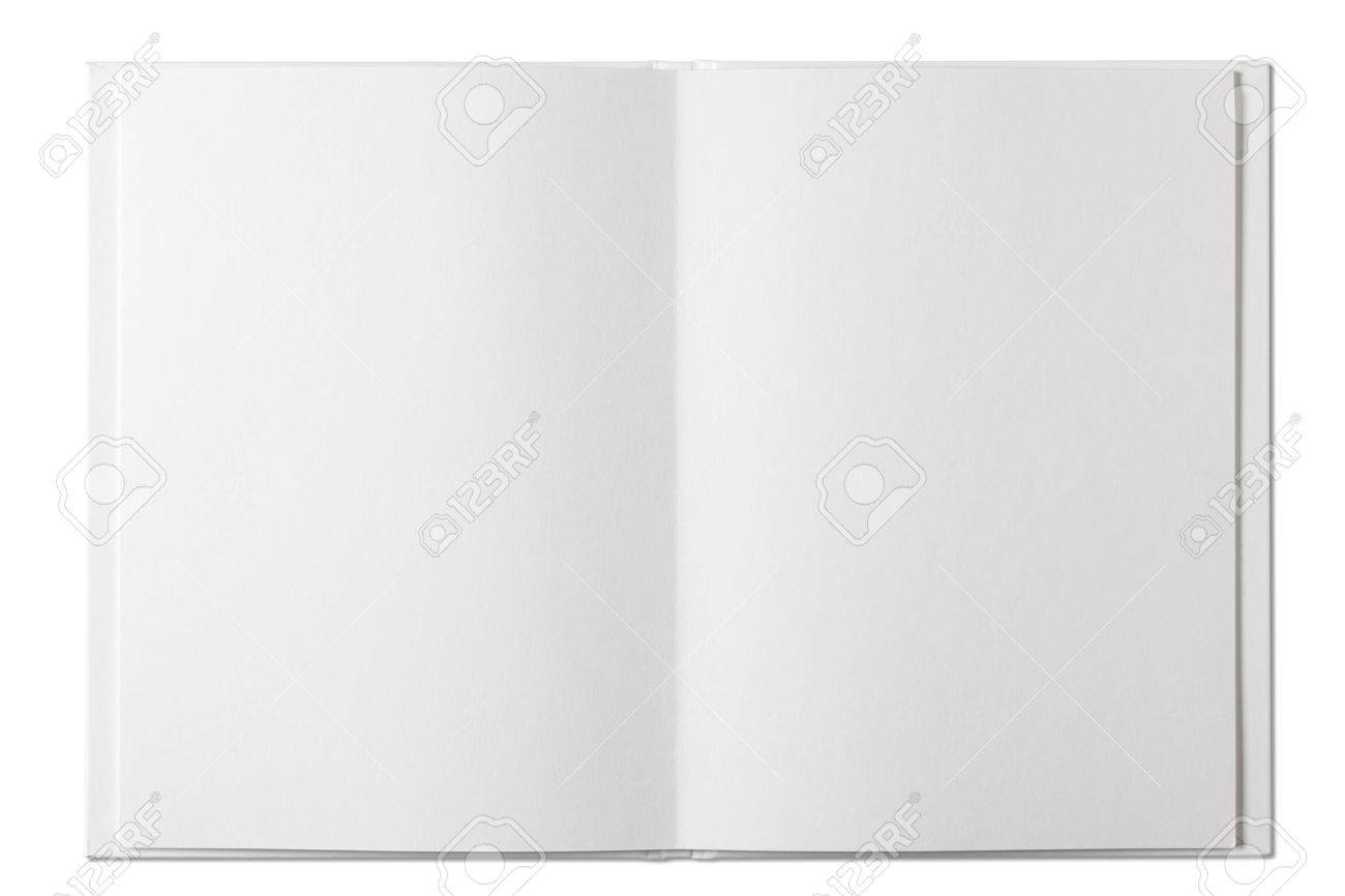 Blank open Book isolated on white - 45812769