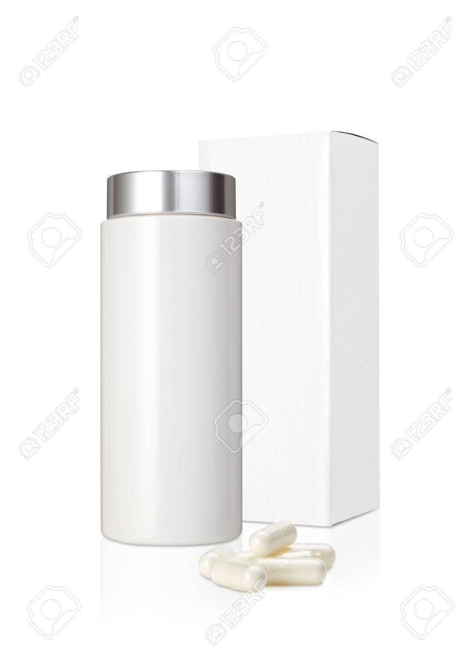 Bemerkenswert Mypaketkasten Das Beste Von Leere Weiße Plastikmedizinflasche Und Paketkasten Und -pillen