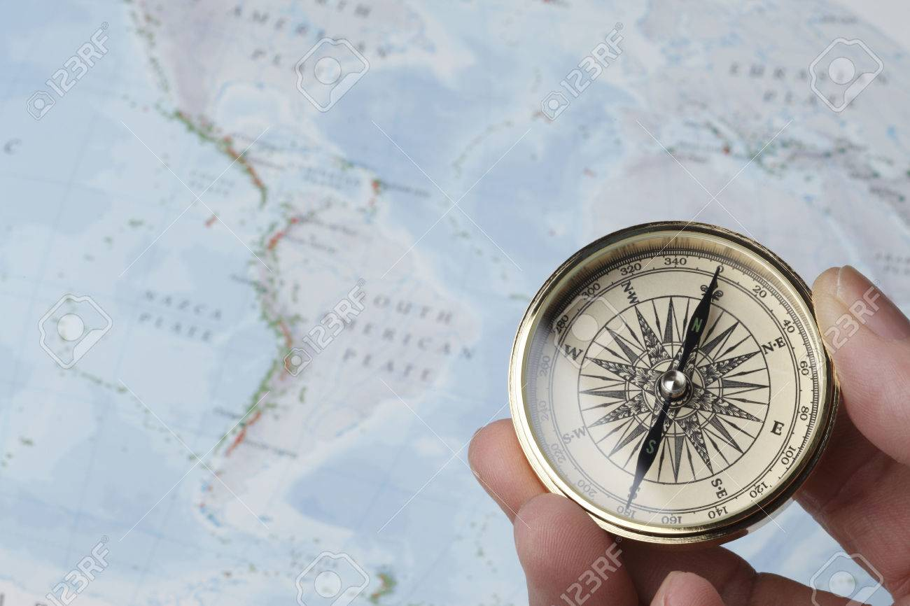compass and map - 46289646