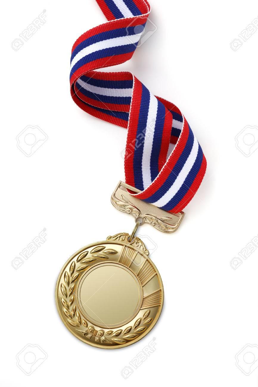 Gold medal on white background - 49161909