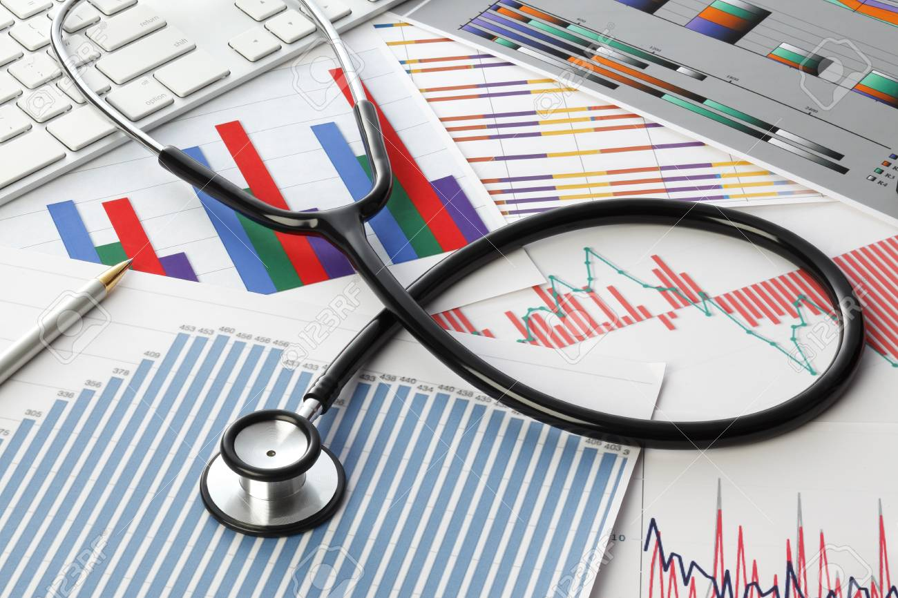 Stethoscope with financial statement - 55300218
