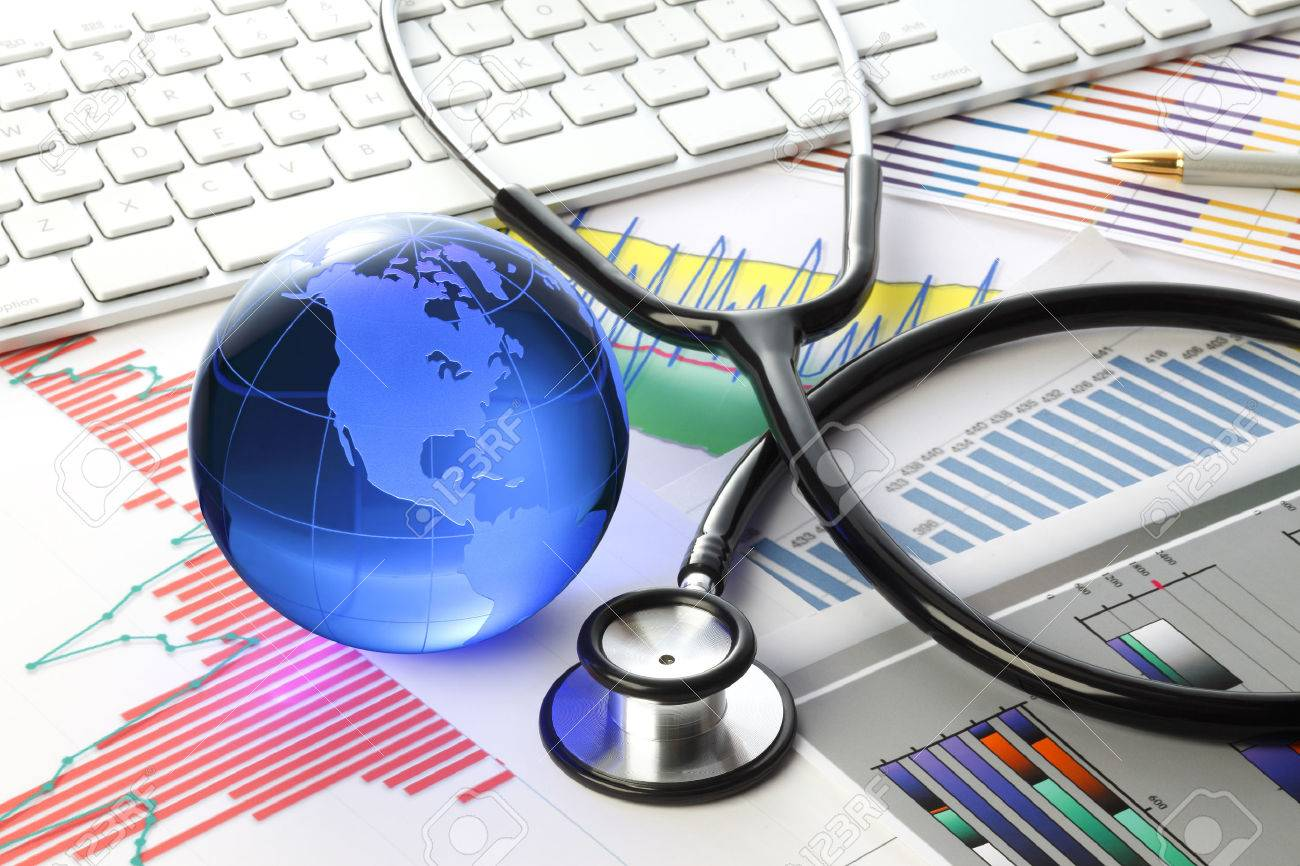 Stethoscope with financial statement - 55300238