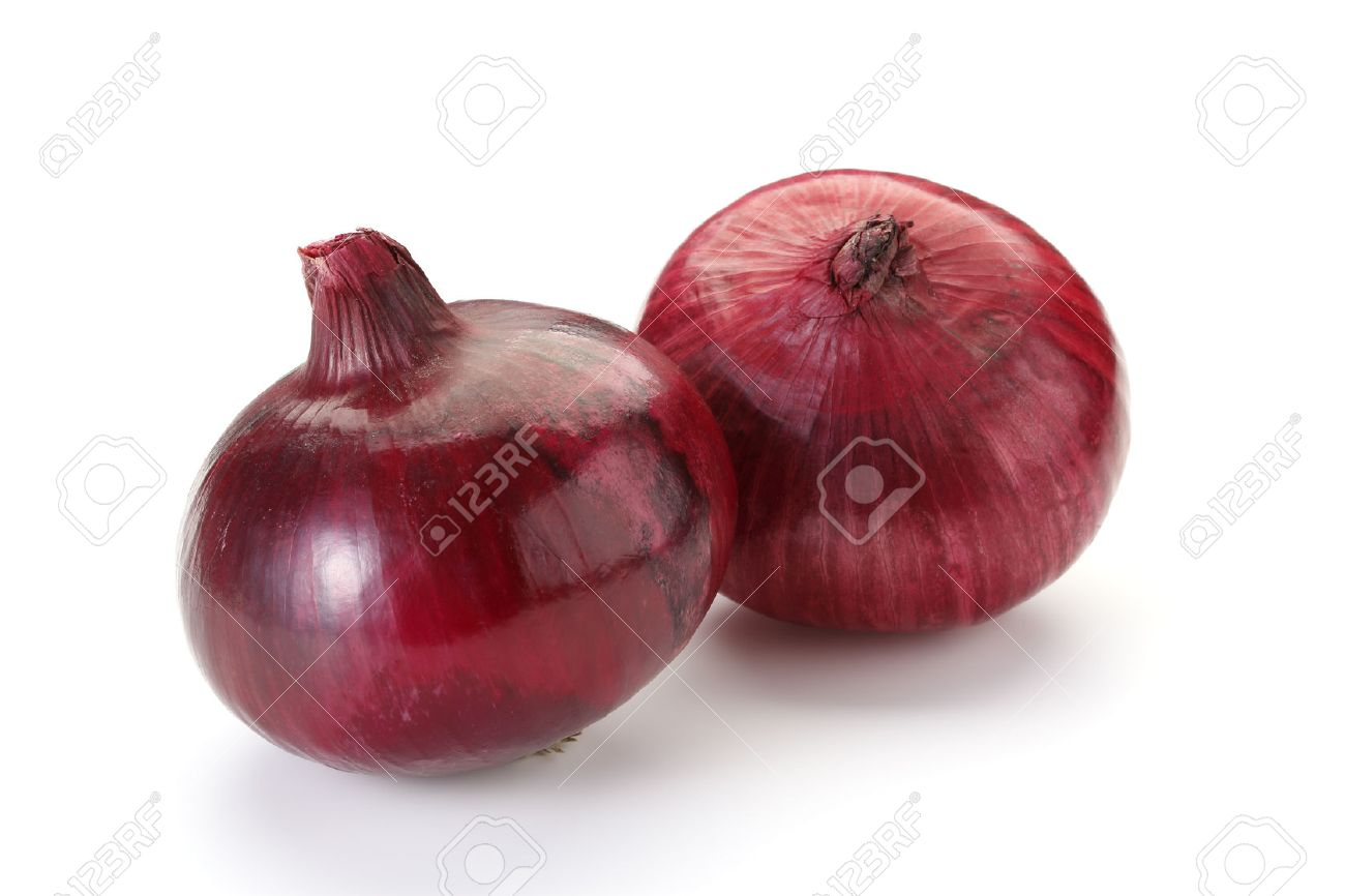 Red Onion Isolated on White Background - 60034276