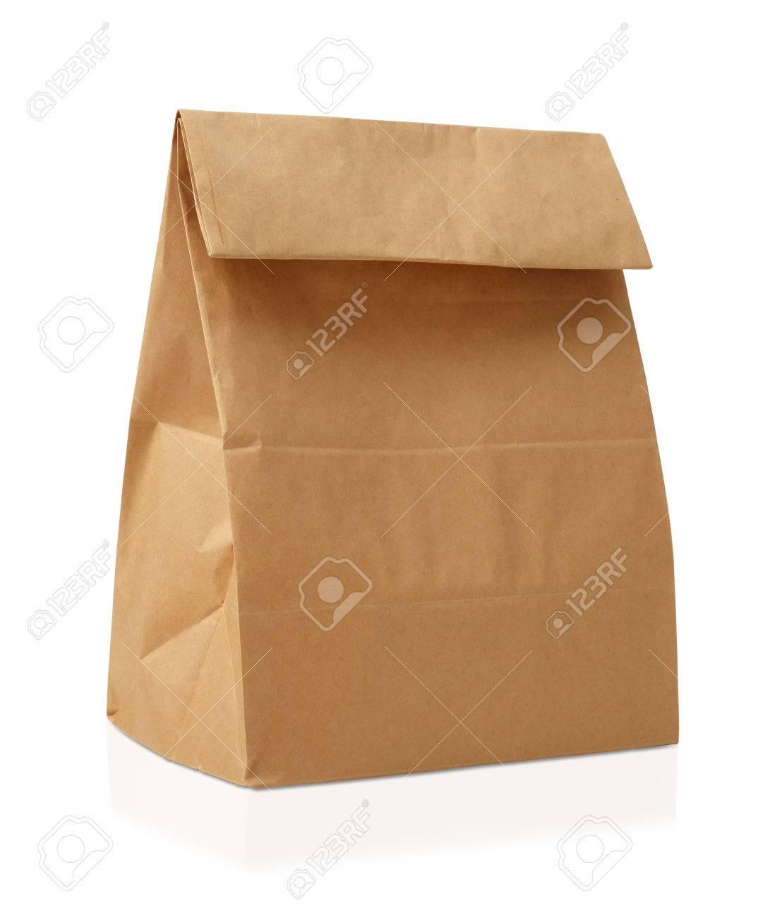 Recycle brown paper bag. - 65872259