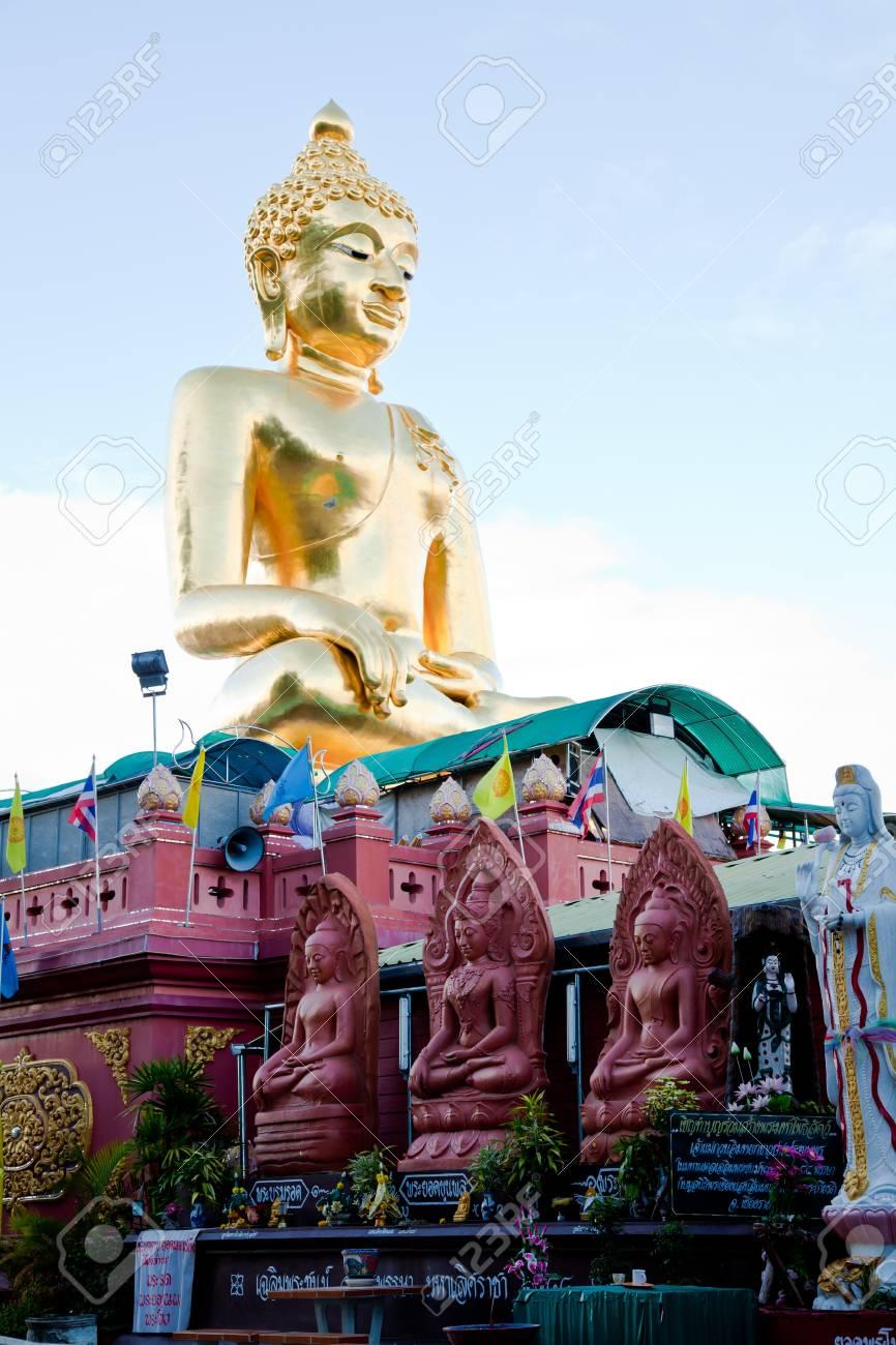a big golden buddha image at golden triangle, chiangrai, thailand Stock Photo - 10296574