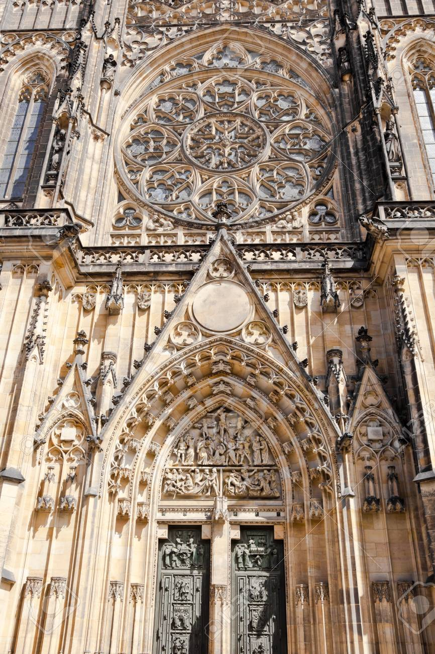 saint vitus cathedral facade, prague, czech republic Stock Photo - 13567901