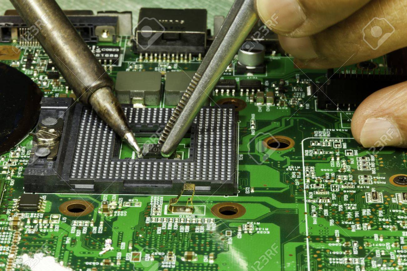 Repairing Circuit Board Stock Photo Picture And Royalty Free Image Computer 15746932