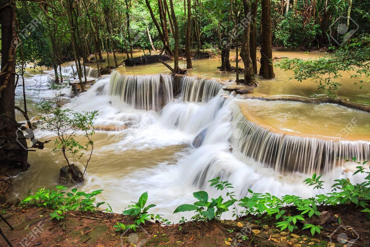 Waterfalls in rain forest, thailand Stock Photo - 21730082